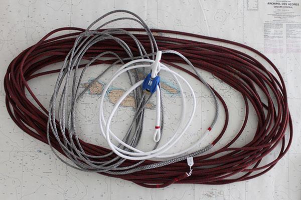 Drisse de GV mouflée avec poulie Ino-Block 2.4 - Dynasty Pro gaine mixte Technora
